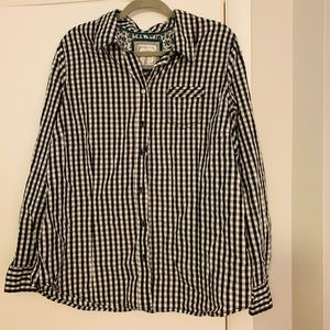 Old Navy black/white checked button down